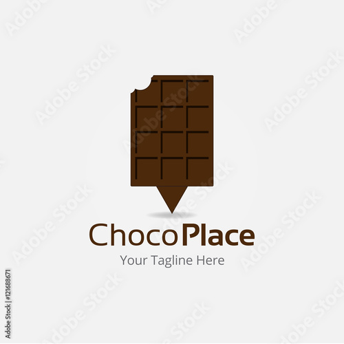 Choco Place Logo Vector Template\