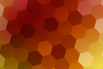 hexagons on a multicolor background. geometric pattern. vector