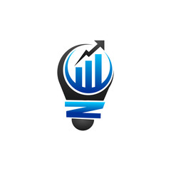 Statistic Bulb Logo Icon Vector Image Icon