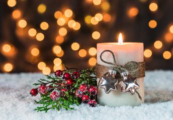 Advent Funkelnd Lichter Gold Glitzernd Weihnachten