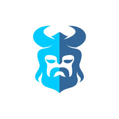 Viking Logo Vector Image Icon