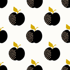 Fototapete - Seamless Apples Pattern