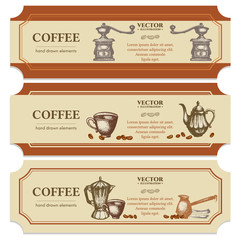 Coffee label design templates