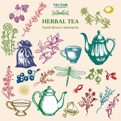 Herbal tea collection vintage