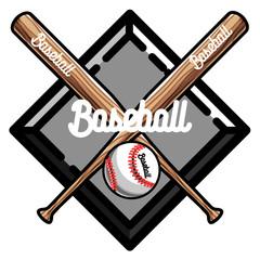 Color vintage baseball emblem