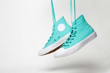 Pair of shoes over white background
