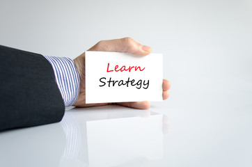 Learn strategy text concept