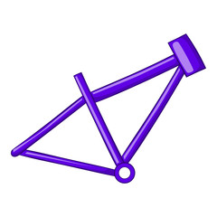 Bicycle frame icon in cartoon style isolated on white background vector illustration
