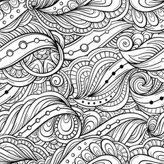 Fantasy decorative ornamental seamless pattern