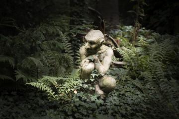 Garden Statue Ornament, Gremlin, Gargoyle, Pixie Wall mural
