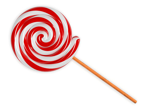Red and white lollipop