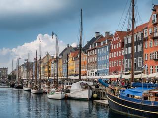 Foto op Canvas Europese Plekken Nyhavn in Copenhagen harbor, Denmark