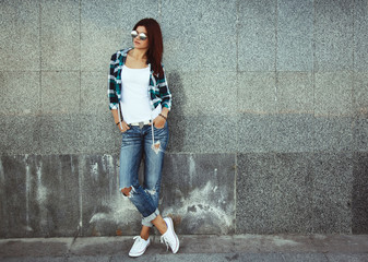 Street teenage outfit Wall mural