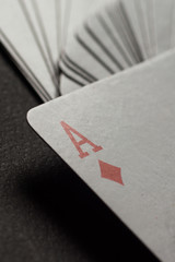 Poker cards and chips concept.
