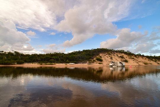 Cloud reflections on Endeavour River