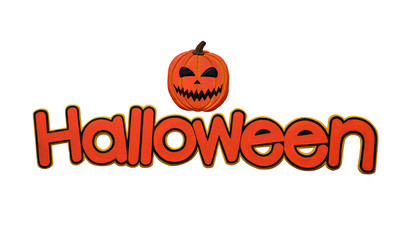"""""""Halloween"""" single word isolated on a white background."""