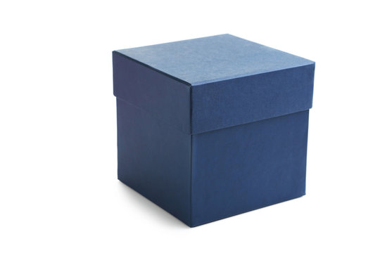 Blue box isolated on a white
