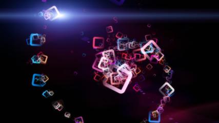 futuristic square background design illustration with light