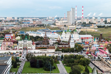 views of the Izmailovo Kremlin and Moscow regions
