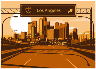Wall Mural - Los Angeles skyline