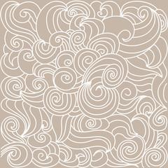 Ornamental pattern hand draw on a beige background