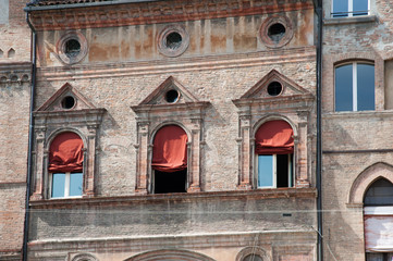 A typical ancient building in Bologna