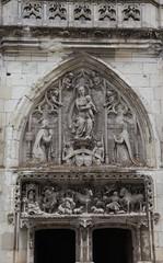 Façade de la chapelle Saint Hubert: Amboise.