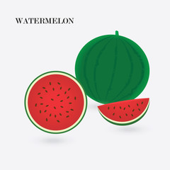 watermelon red isolated on white background abstract art creative vector element for design