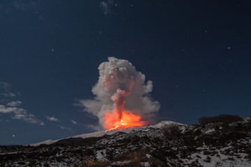 Volcano Etna eruption Fototapete