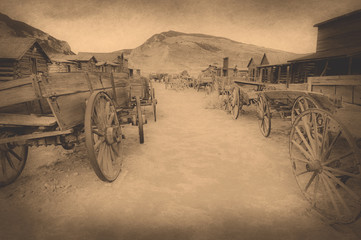 Old west, Old trail town, Cody, Wyoming, United States, vintage version