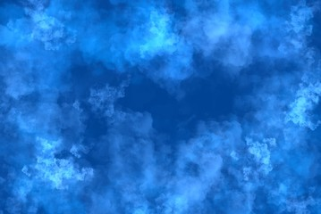 Abstract Blue Cloud and smoke background