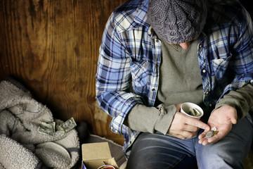 homeless man ask help