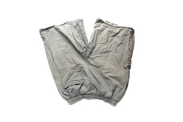 gray pants on white background