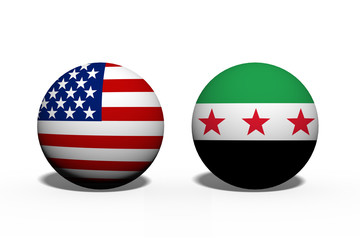 The United States of America and Syria working together