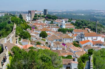 Obidos,von Stadtmauer umschlossene Altstadt