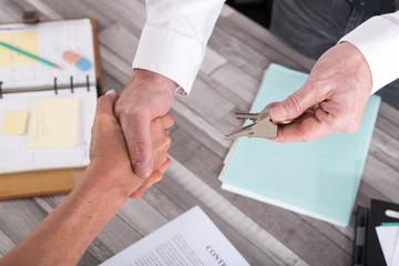 Handshake in a real estate transaction