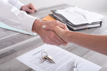 Handshake in a real estate transaction