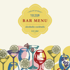 Alcohol bar menu vector