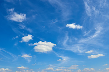 blue sky background with clouds at day
