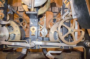 Mechanism of the old clock