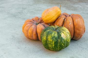 Pumpkins straight from the garden.