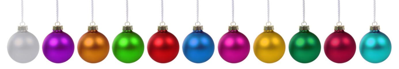 Weihnachtskugeln Weihnachten viele bunte Kugeln Dekoration in ei