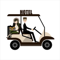 Buggy car In a hotel.vector