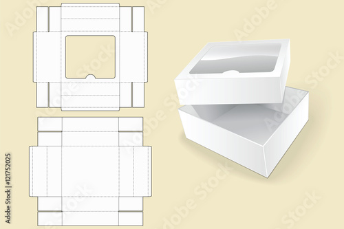 Box template. Packaging. White Cardboard Box. Vector illustration ...