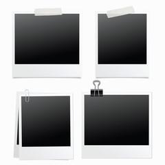 Photo frame isolated. Template photo design. Vector illustration. Vintage. Retro.