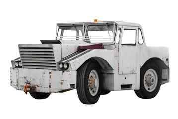 Large tug truck isolated on white background