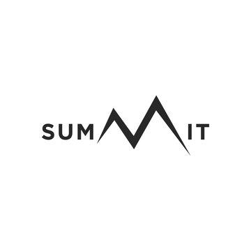 summit illustration and symbol, vector illustration of mountain, mountain logo