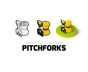Pitchforks icon in different style