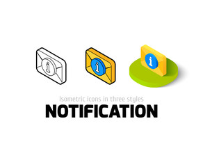 Notification icon in different style