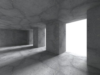 Abstract architecture background. Concrete empty room interior